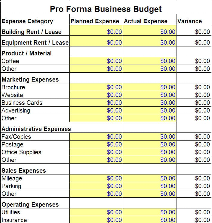 Expense Budget Template Budget Template Sample Budget Spreadshee Budget Spreadshee Simple Budget Template
