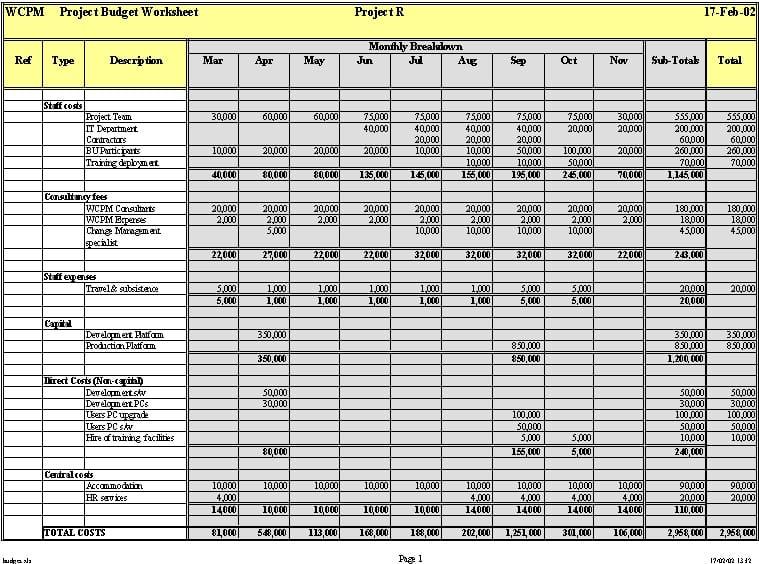 Sample Spreadsheet for Tracking Expenses 1