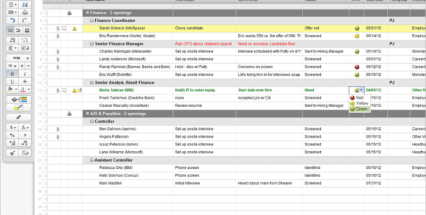 Applicant Tracking Spreadsheet Download Free