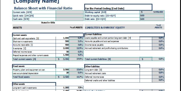 Balance Sheet Example Excel Balance Sheet Template Excel Excel Spreadsheet Templates