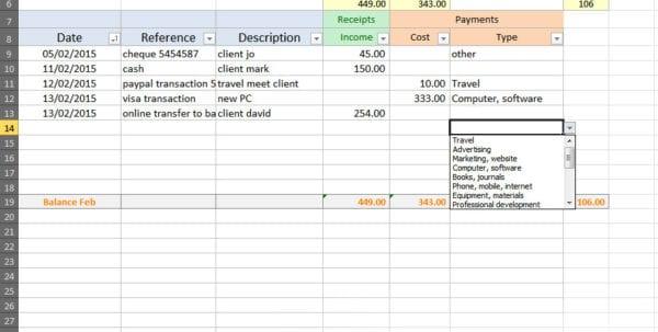 Basic Accounting Spreadsheet 1