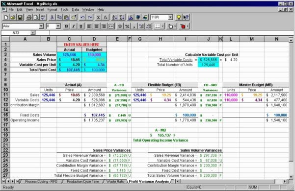 Basic Accounting Spreadsheet