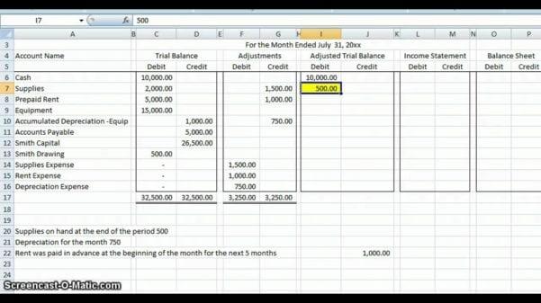 Basic Accounting Worksheet