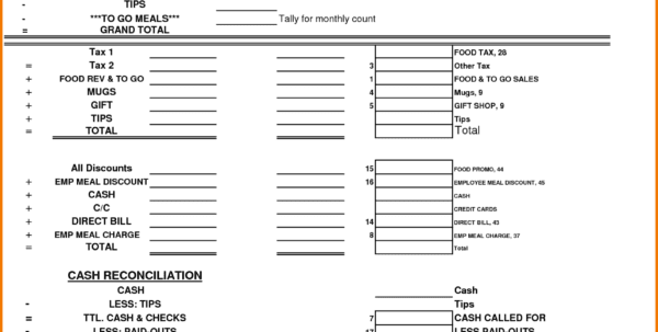 Blank Expense Report Form