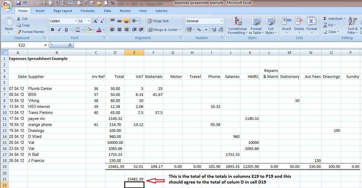 Bookkeeping Spreadsheet Template 1 1
