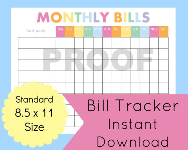 Budget Planner Template Monthly Financial Planning Finance Spreadshee