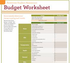 budget plan for college students