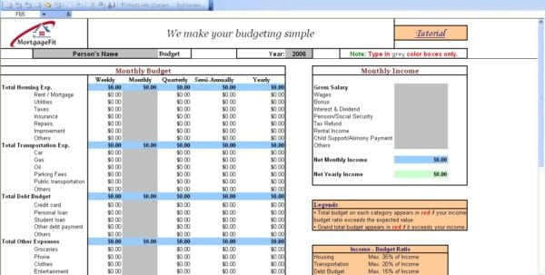 Budget Tools Free Download 1