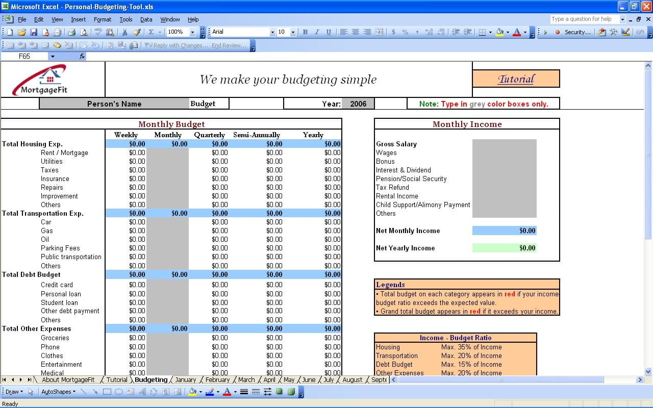 Budget Tools Free Download