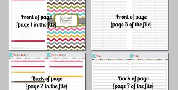 Budget Tracker Worksheet