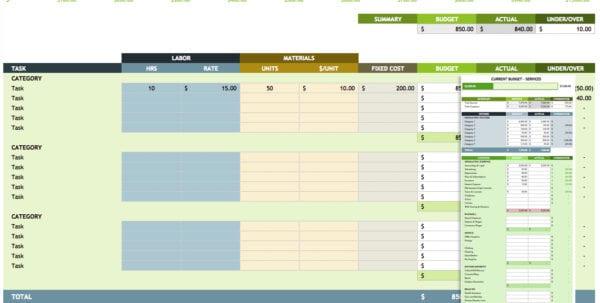 Budget Tracking Sheets
