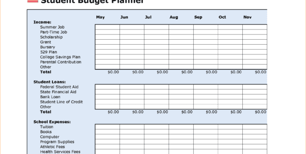 college budget template spreadsheet templates for busines college student budget example. Black Bedroom Furniture Sets. Home Design Ideas