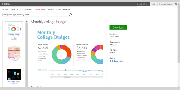 College Monthly Budget College Budget Template Spreadsheet Templates for Business