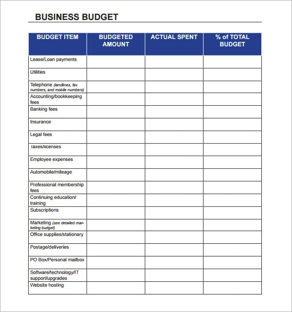 free printable income and expense form