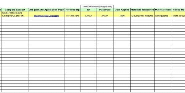 Applicant tracking spreadsheet template tracking for Recruiting database template