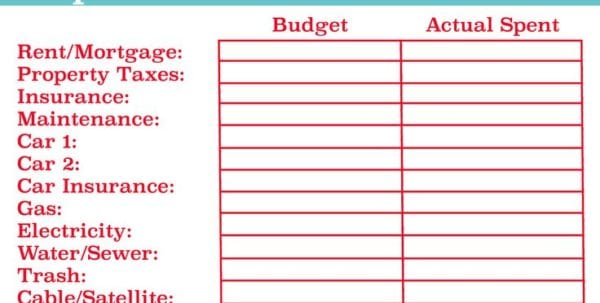 Easy Expense Report Form