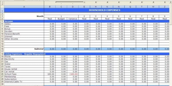 Excel Budget Template Uk