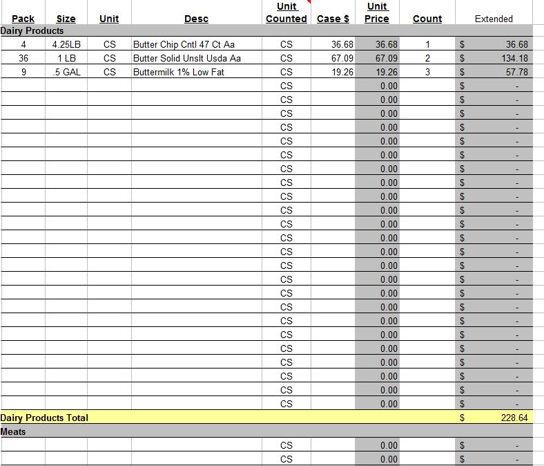 Basic Inventory Spreadsheet Template — excelxo.com