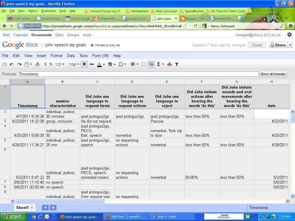 Excel Spreadsheet Template