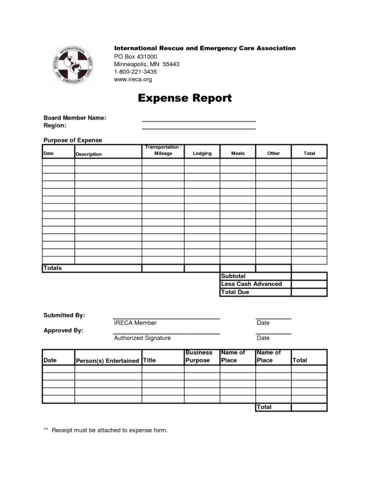 expense report freeware