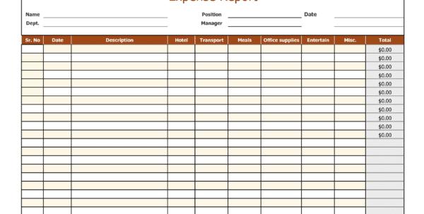 Expense Report Template Google Docs 1 Company Expense Report Spreadsheet Templates for Business