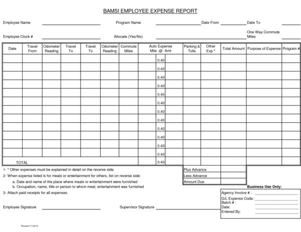 Expense Report Template Google Docs 2
