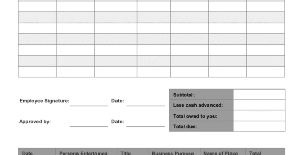 Expense Report Template Word 4