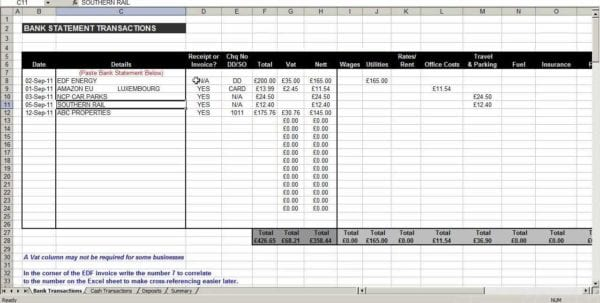 Expense Spreadsheet Template 1
