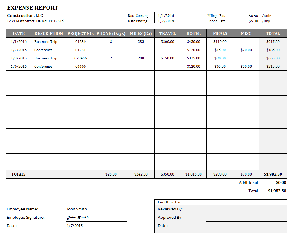 Expense Spreadsheet Template Expense Report Form Excel Expense Spreadshee Expense Spreadshee Free Expense Reports