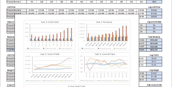 Financial Statements Templates Xls