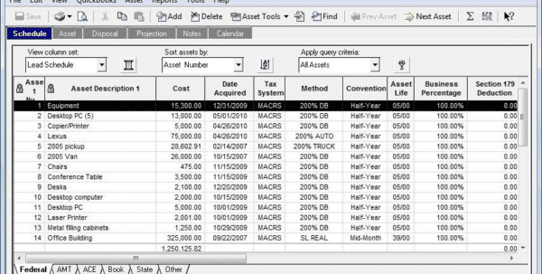 Fixed Asset Inventory Template