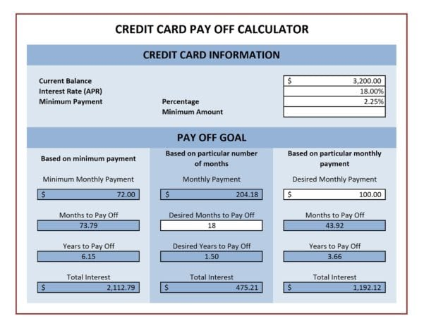 Free Debt Snowball Calculator