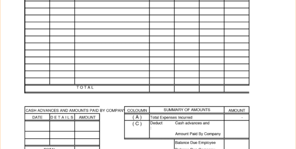 Free Expense Report Forms Office Expense Report Spreadsheet Templates for Business