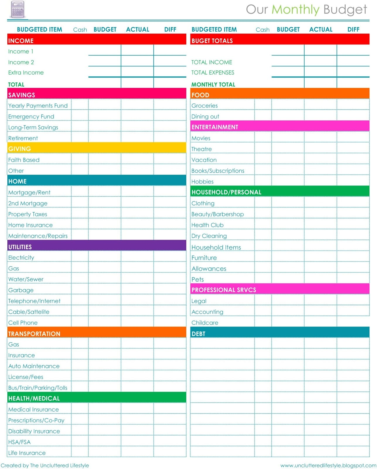 Free Printable Budget Planner Monthly Financial Planning Finance Spreadshee Finance Spreadshee Budget Planner Worksheet