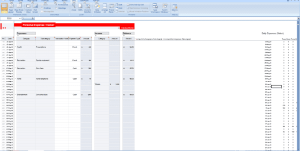 Free Printable Expense Log Daily Expenses Tracker Spreadsheet Templates for Business