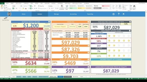 Home Remodeling Excel Templates