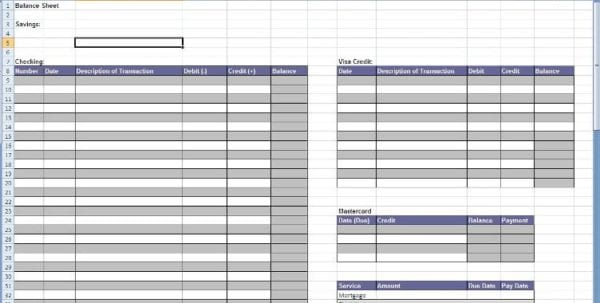 Income Statement Template Excel Balance Sheet Template Excel Excel Spreadsheet Templates