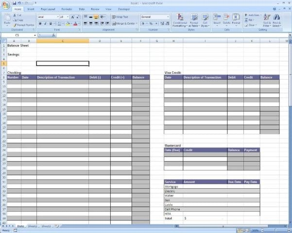 Excel Accounting Templates Microsoft