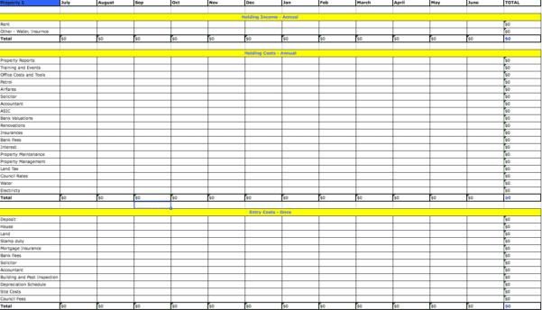 Itemized Deductions Spreadsheet