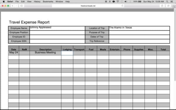Microsoft Expense Report Generic Expense Report Spreadsheet Templates for Busines Microsoft Expense Report