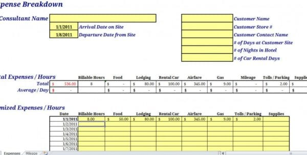 Monthly Expense Report Template