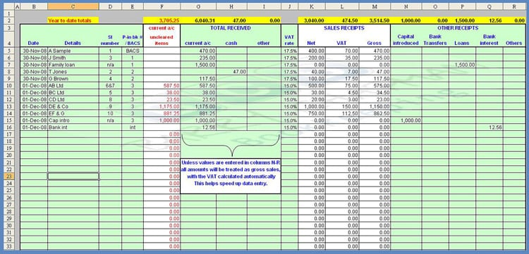 Payroll Spreadsheet Template 2