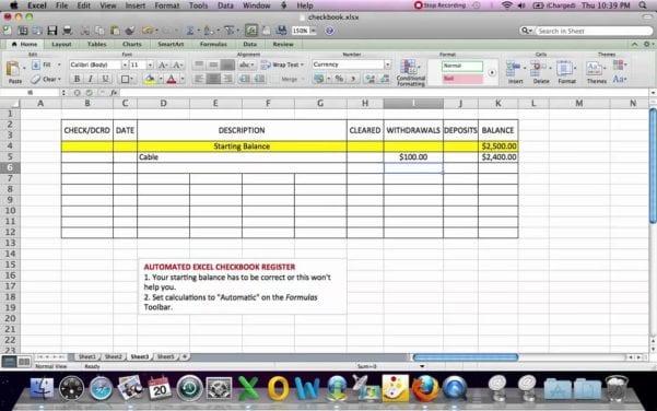 Printable Bank Reconciliation Worksheet