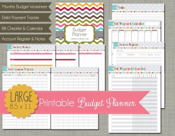 Printable Budget Planner Monthly Financial Planning Finance Spreadshee Free Budget Software