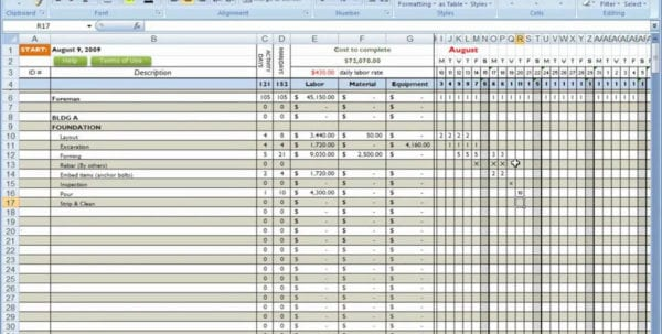Project Cost Template Cost Breakdown Template Spreadsheet Templates for Business