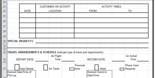 Sample Expense Reimbursement Form