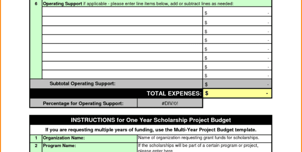 Sample Student Budget Worksheet