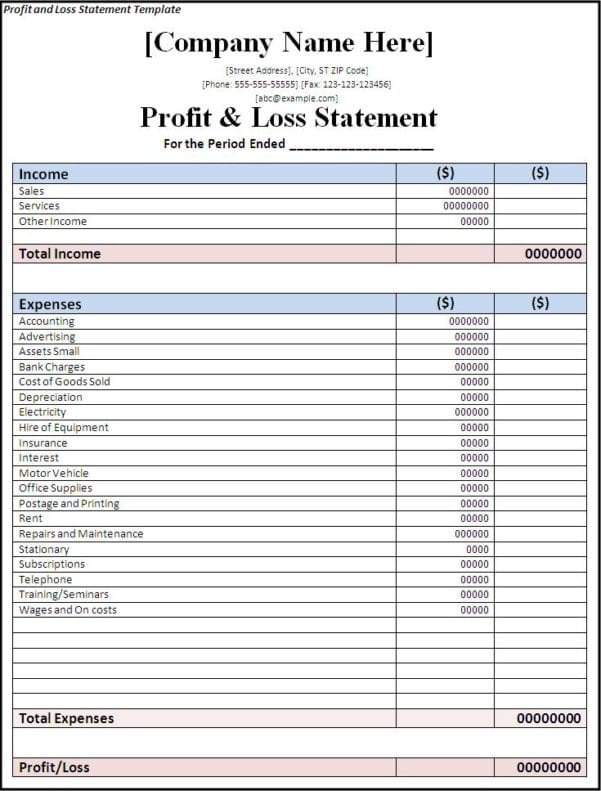 Simple Business Accounting Spreadsheet Accounting ...