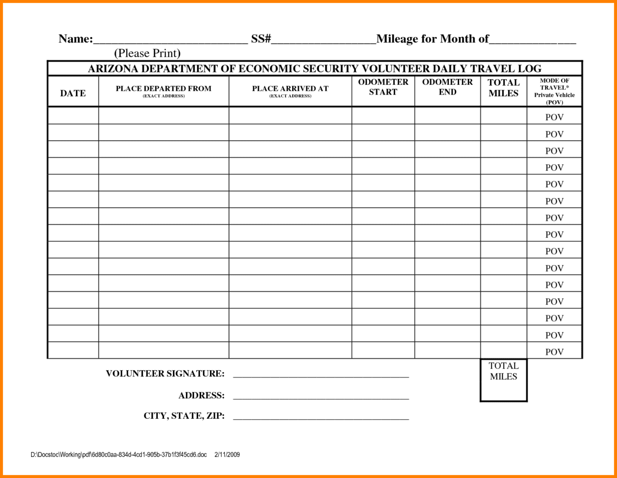 Simple Expense Reimbursement Form 1