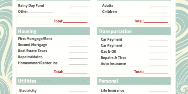 Simple Expense Reimbursement Form